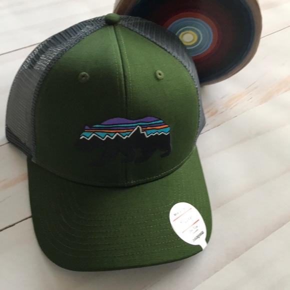 4a6632f5 Patagonia Accessories | Mens Trucker Hat Mid Crown Bear New | Poshmark